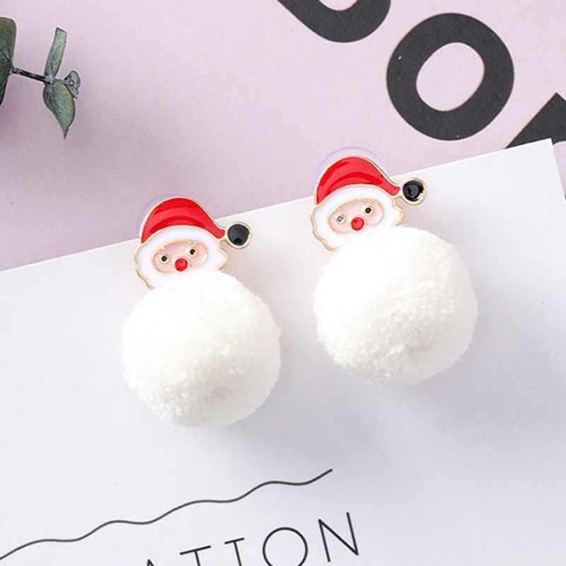 ฤดูหนาวน่ารักสาวคริสต์มาส Snowman ต่างหูเกาหลีแฟชั่น 2018 คริสต์มาสใหม่เครื่องประดับอุปกรณ์เสริม