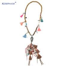 Аксессуары для одежды длинное ожерелье в богемном этническом