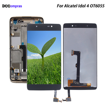 For Alcatel Idol 4 OT6055 Display For Alcatel Idol 4 OT6055 Screen LCD Display Touch Screen Digitizer Assembly 6055P 6055K for alcatel one touch idol 2 mini 6016 ot6016 lcd display touch digitizer assembly frame white by free shipping