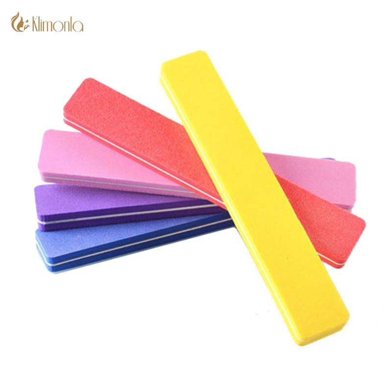 10Pcs/lot Sanding Sponge Nail File Buffer Block For UV Gel Nail Files 100 180 Rectangular Nail Art Accessories Styling Tools