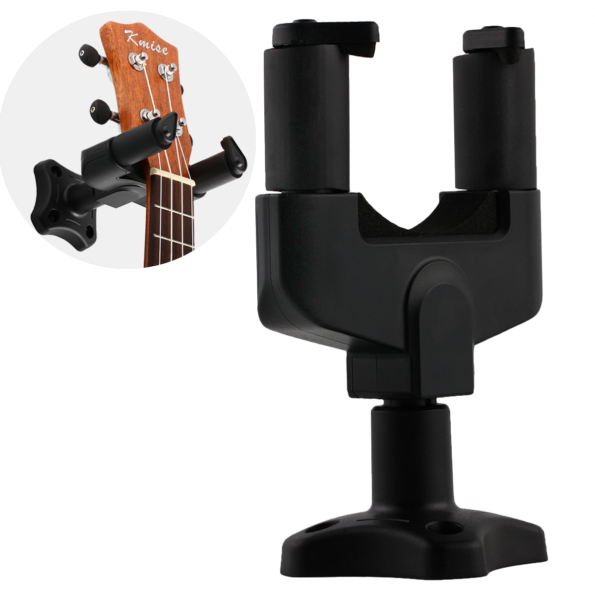 Guitar Hook Hanger Wall Stand for Electric Acoustic Guitar Part Accessories Black wall mount guitar hanger hook holder keeper auto grip system lock round base for electric acoustic guitars string instrument