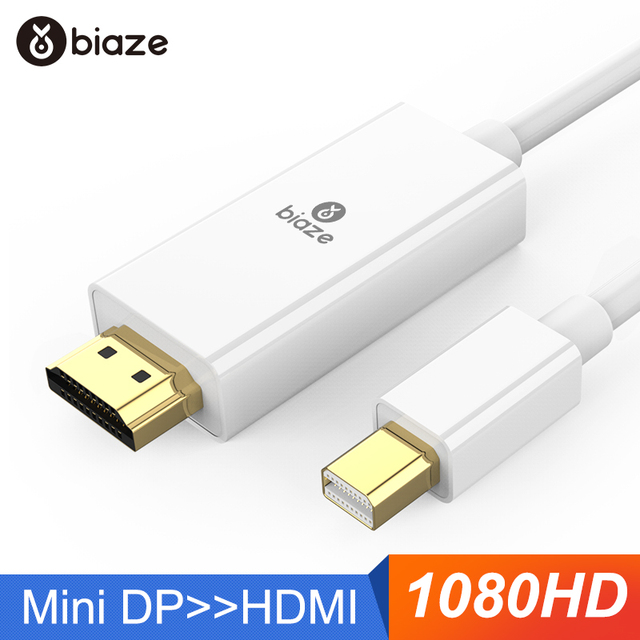 US $4 96 30% OFF Biaze Mini DisplayPort to HDMI Adapter Mini DP Cable  Thunderbolt HDMI Converter for MacBook Air 13 Surface Pro 4 Thunderbolt  2k-in