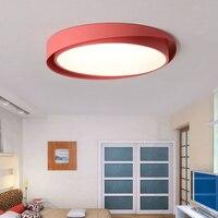 Nordic farbe makronen decke lampe kreative kinderzimmer licht schlafzimmer runde led minimalistischen moderne decke lichter LU8111625-in Deckenleuchten aus Licht & Beleuchtung bei