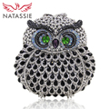 NATASSIE Women Owl bags Ladies Evening Bag Fashion Animal Prints Clutches Female Fashion Party Crystal Purses