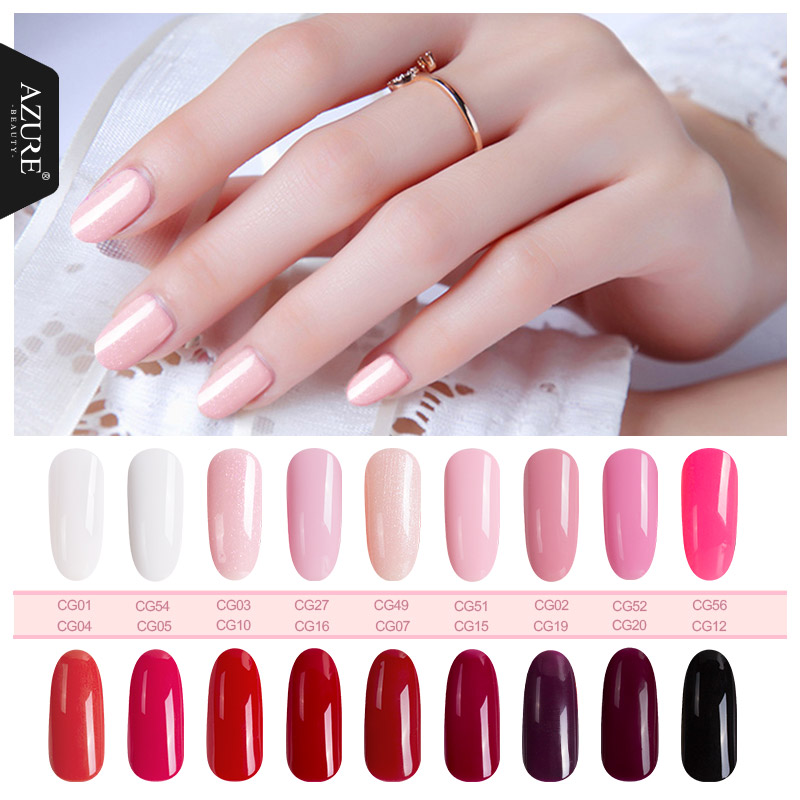 Azure Beauty Nail Art Uñas Gel LED UV Soak off Gel Laca de Larga Duración 12ML Gel Esmalte de Uñas Profesional Color Nail Gel