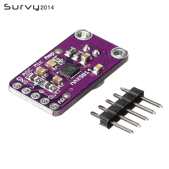 MAX9814 Microphone  Amplifier Board Module Auto Gain Control for Arduino Programmable Attack and Release Ratio Low THD sakshi rajput low threshold and better gain charge pump