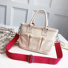 Wide Shoulder Strap Casual Women Canvas Shoulder Bags Girls Large Capacity Shopping Travel Totes Female Handbags Bolsa Feminina