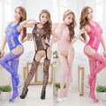 Hot Sexy Ladies Fishnet abrir gancho corpo Stocking Bodysuit roupa Lingerie