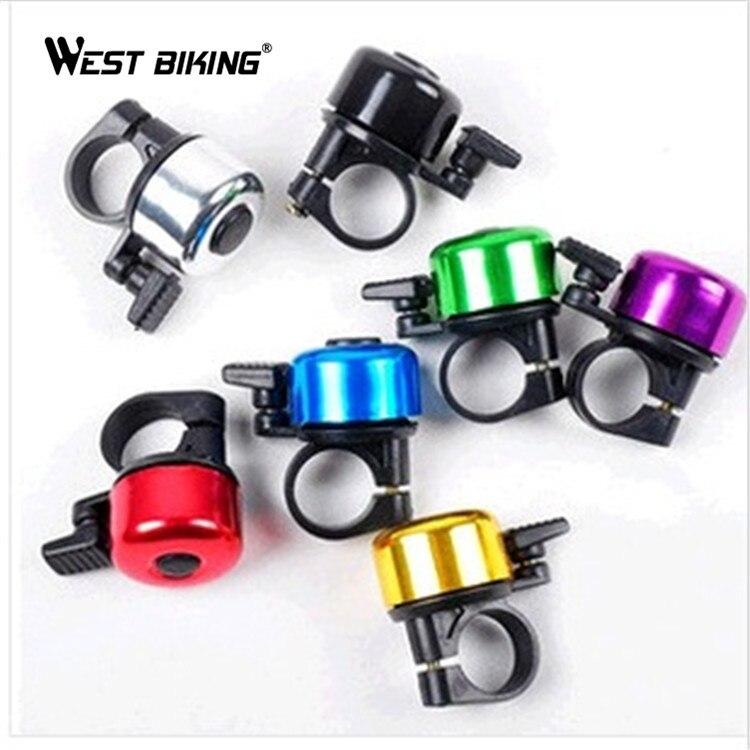 WEST BIKING Metal Horn Bike Bell Bicycle Handlebar Loud Sound Ring Alarm MTB Bike Bell Bicycle Horn Cycling Ring Alarm Bell