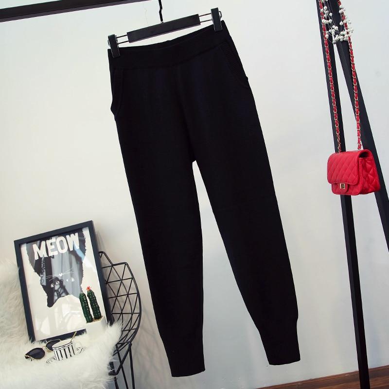 Hiver Designer piste costume ensemble de luxe femmes haut tricot pantalon ensemble de mode femmes à manches longues pull pantalon ensemble-in Sweats à capuche et sweat-shirts from Mode Femme et Accessoires    3