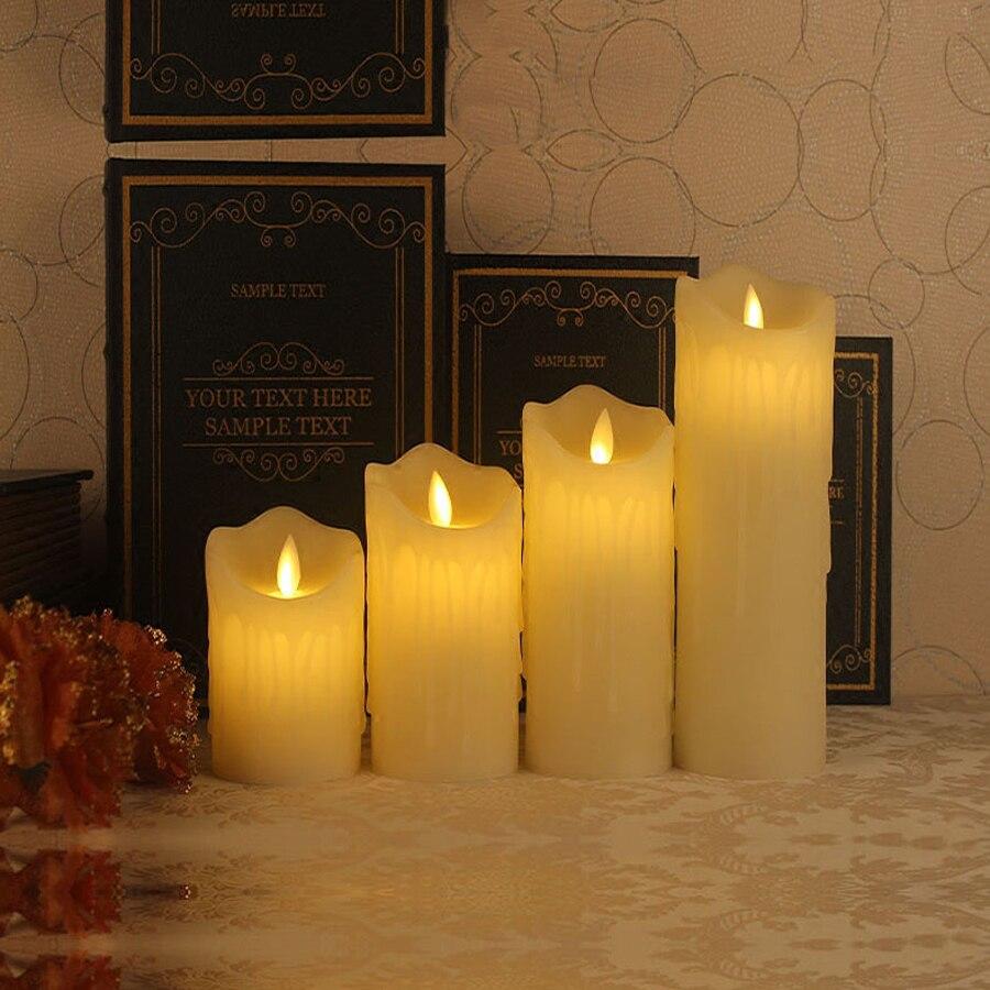 1 pz Telecomando LED Elettronico Senza Fiamma della Candela Luci di Simulazione di Fiamma Lampeggiante LED Candele di san Valentino Decorazione Del Partito