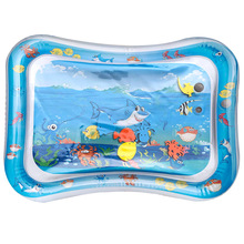 Dual Use Baby Water Mat Inflatable Patted Pad play mat Playing Activity Gym Marine Animal Game