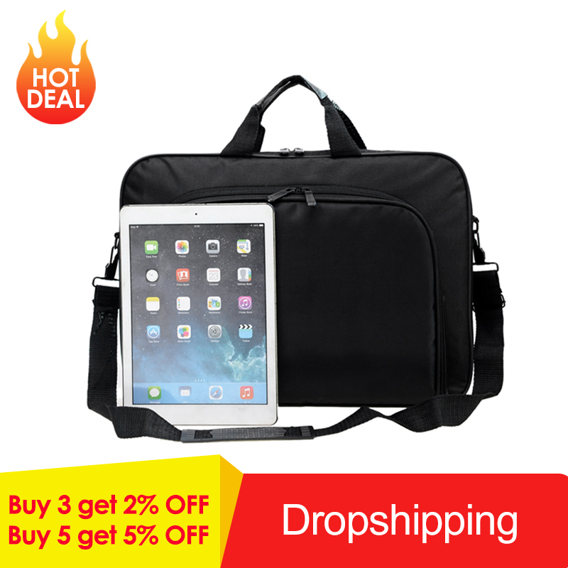 Image 2 - VODOOL Laptop Bag Computer Bag Business Portable Nylon Computer Handbags Zipper Shoulder Laptop Shoulder Handbag High Quality-in Laptop Bags & Cases from Computer & Office