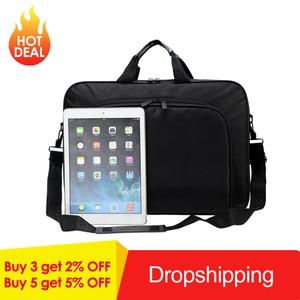 Image 2 - VODOOL bolsa para ordenador portátil, bolso de negocios de nailon, con cremallera, para hombro, alta calidad