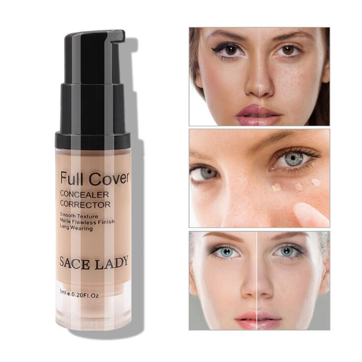 SACE LADY Face Concealer Cream Liquid Makeup Full Cover For Dark Circles Natural Complexion Blemishes Spots Face Flaws Cosmetic image