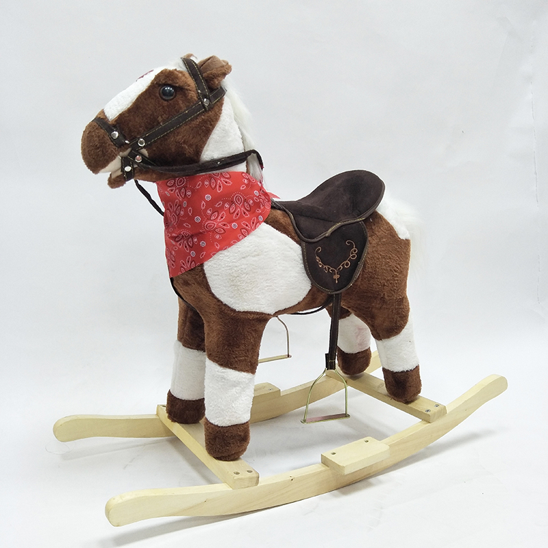 High Quality Wood-made Rocking Horse Animal Riding Toy For Children Music S Size Walking Pony Best Birthday Gifts for Your Kid