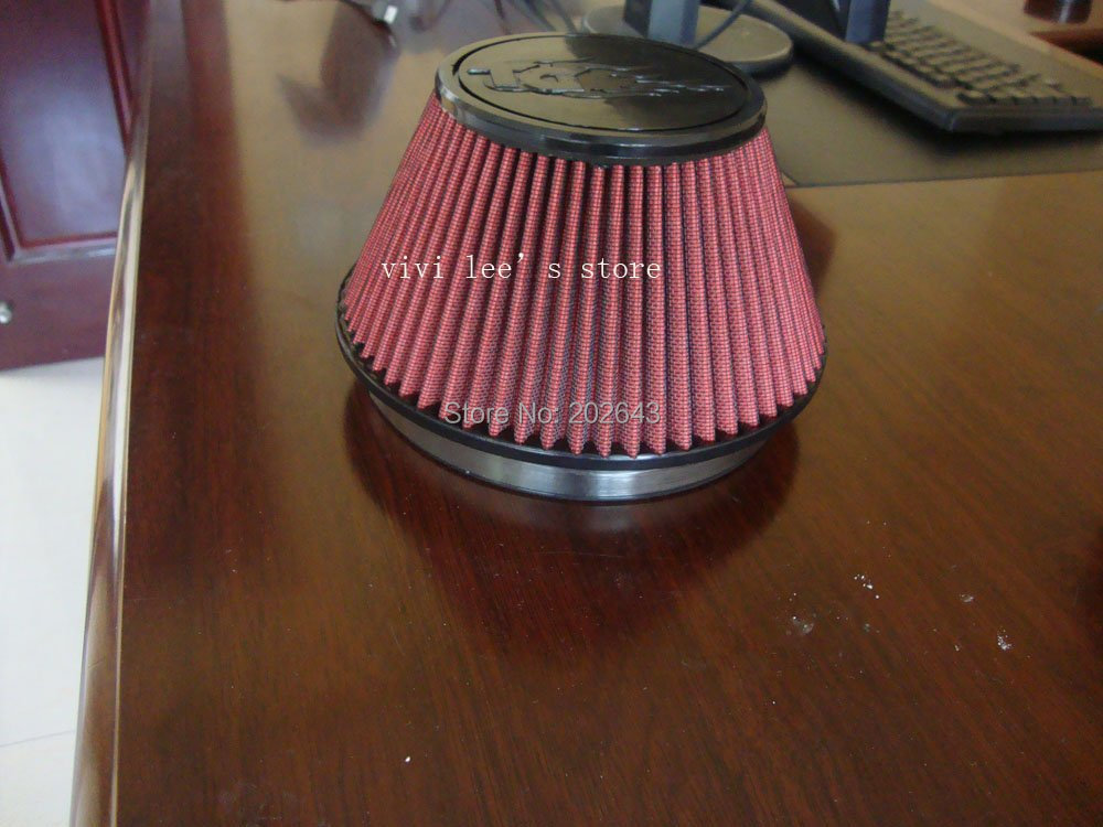 2688-1 красный автомобильный воздушный фильтр с простой PU верхней частью и 152 мм горловиной универсальный для воздухозаборника индукционные комплекты угольный фильтр knopel astra