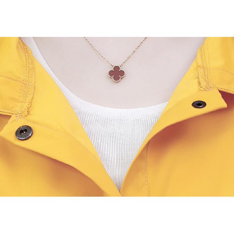 Spring Autumn Fashion Long Trench Coat Women Hooded Single-breasted Thin Windbreaker 2019 Female Korean Casual Elegant Overcoat 31