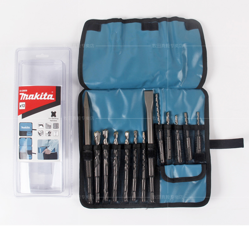 Bosch Borenset Us 85 49 5 Off Japan Makita Round Handle Four Pit Hammer Drill Bit Sharp Chisel Flat Chisel 13 Pcs Sets Impact Drill Set In Power Tool Accessories