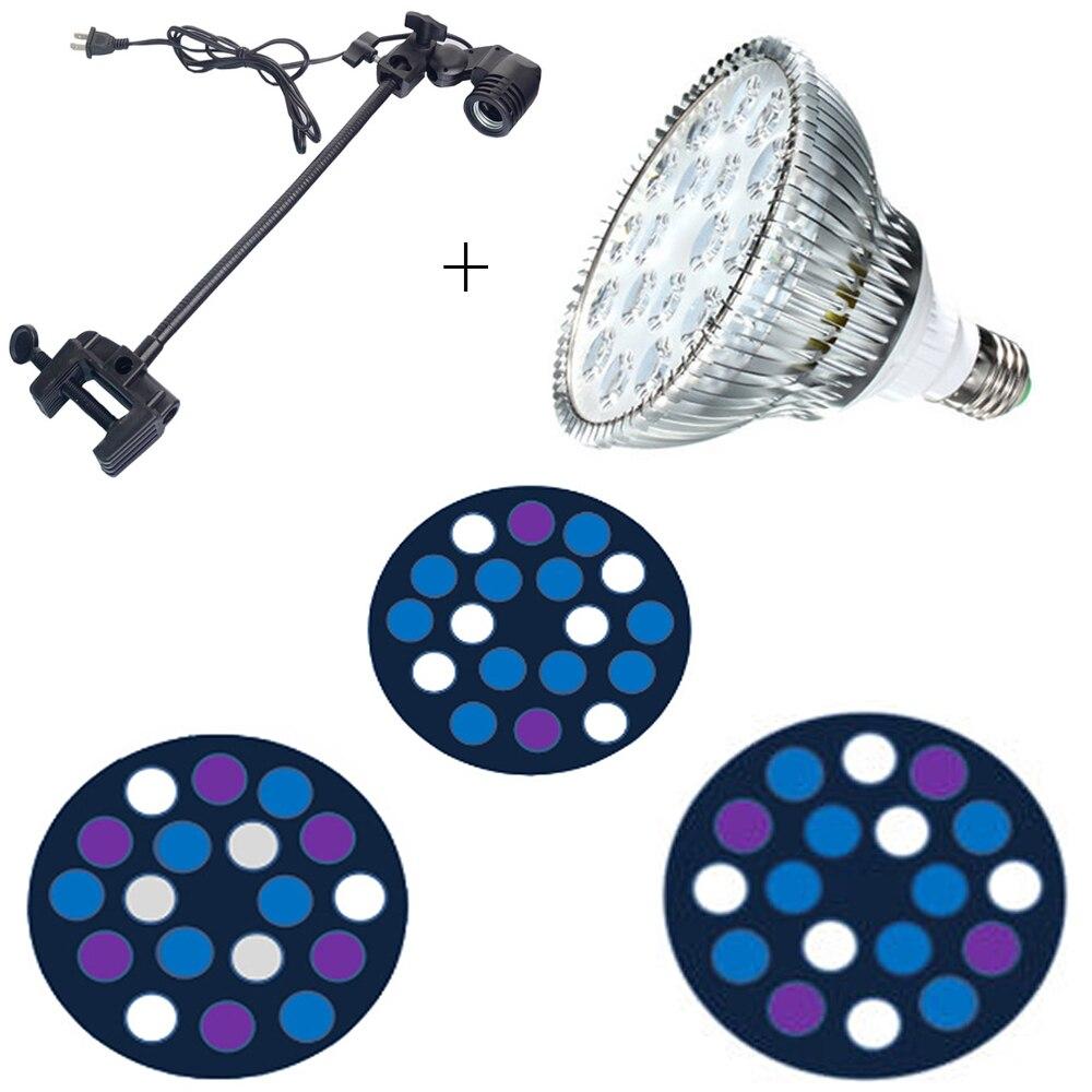 Nouveau PAR38 E27 54 W LED récif de corail grandir lumière haute puissance Aquarium lampe ampoule LED plante pousser l'éclairage avec CE ROHS
