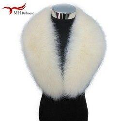 Best donne di vendita 100% di volpe collo di pelliccia di modo caldo sciarpa di usura nuovo inverno di grandi dimensioni beige dello scialle del cappotto della giacca tute di cotone reale della sciarpa della pelliccia