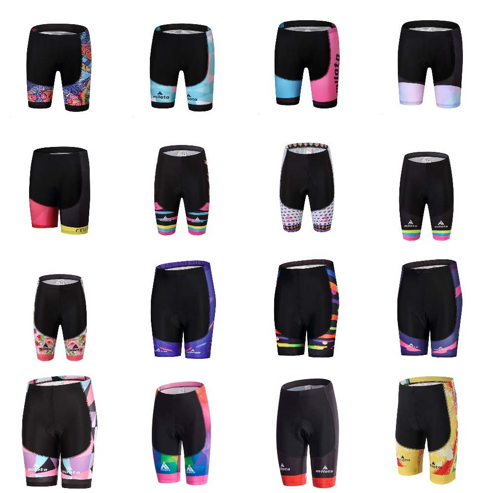 Top Quality Women Coolmax 5D Padded Cycling Shorts Shockproof MTB Bicycle Shorts Road Bike Shorts Ropa Ciclismo Tight  ODM / OEM