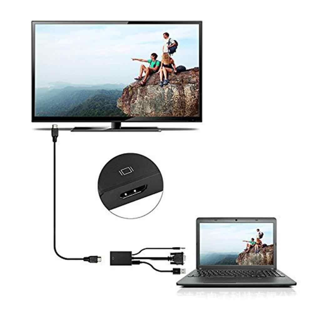 Presisi Tinggi Vfa untuk HDMI Output 1080 P HD + Audio TV AV HDTV Video Konverter Kabel Adaptor