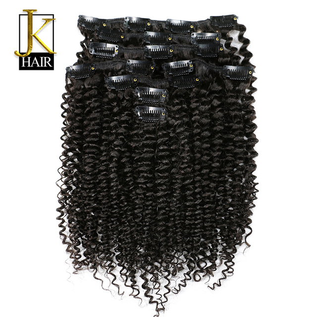Jk Hair Mongolian Afro Kinky Curly Weave Clip In Human Hair