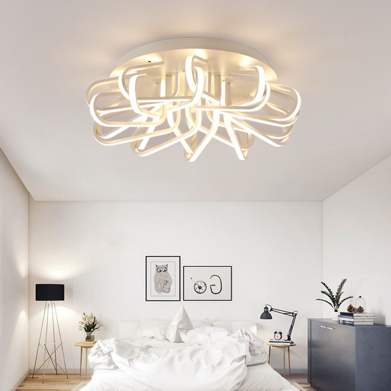 Modern Bird Nest Wrought Iron Aluminium LED Interior Lighting Ceiling Lamps Home Decoration Remote Surface Mounted Ceiling Lamp