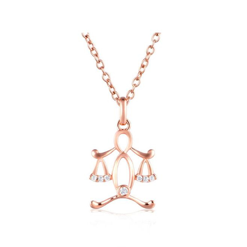 Libra Design Gorgeous Necklaces & Pendants Popular 12 Constellation 100% 18K Gold Health Fashion Jewelry
