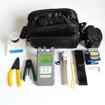 15 En 1 FTTH Fibra herramientas kits con Fibra Cleaver-70 ~ + 10dbm medidor de potencia Óptica Visual fault lcator 3-5 km y stripper