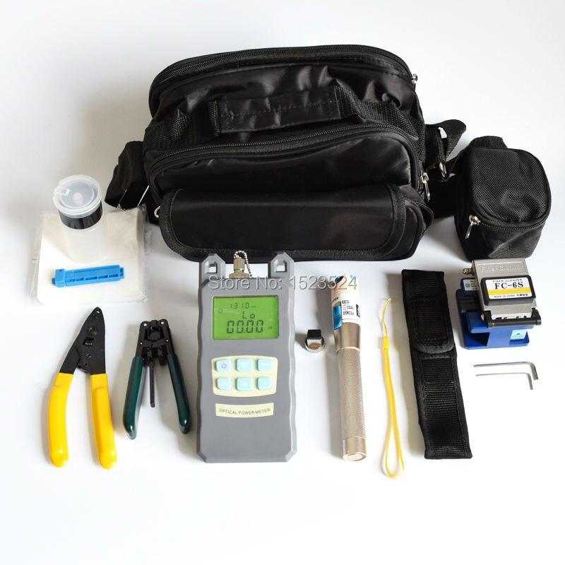 imágenes para 15 en 1 Kits de Herramienta de Fibra Óptica FTTH con Fibra cuchillo-70 ~ + $ number dbm Medidor de Potencia Óptica Visual de Fallos Lcator 3-5 KM y Stripper