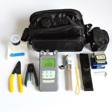 15 in 1 FTTH Fiber Optic Tool Kits with Fiber Cleaver  70~+10dBm Optical Power Meter Visual Fault Lcator 3 5KM and Stripper