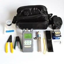 Kit de herramientas de fibra óptica FTTH 15 en 1, con cuchilla de fibra 70 ~ + 10dBm, medidor de potencia óptica, falla Visual Lcator 3 5KM y decapador