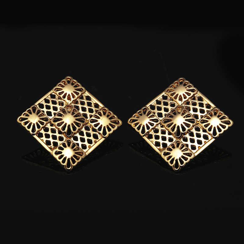 Fani Dubai or couleur ensembles de bijoux nigérian mariage femme accessoires ensemble de bijoux mode perles africaines ensemble de bijoux en gros