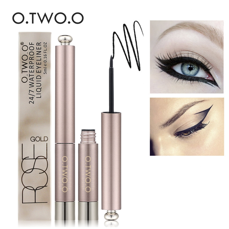 O.TWO.O Brand  Black Eye Makeup Liquid Eyeliner Easy To Wear Black Eyeliner Waterproof Lasting Eyeliner Eyes  Maquiagem