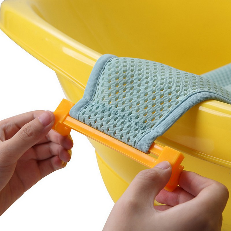 ummer Newborn Baby Bath Seat Net Bed Cushion Pillow Pad Support Accessories for Baby Tub Safety Product Baby Care Drop shipping