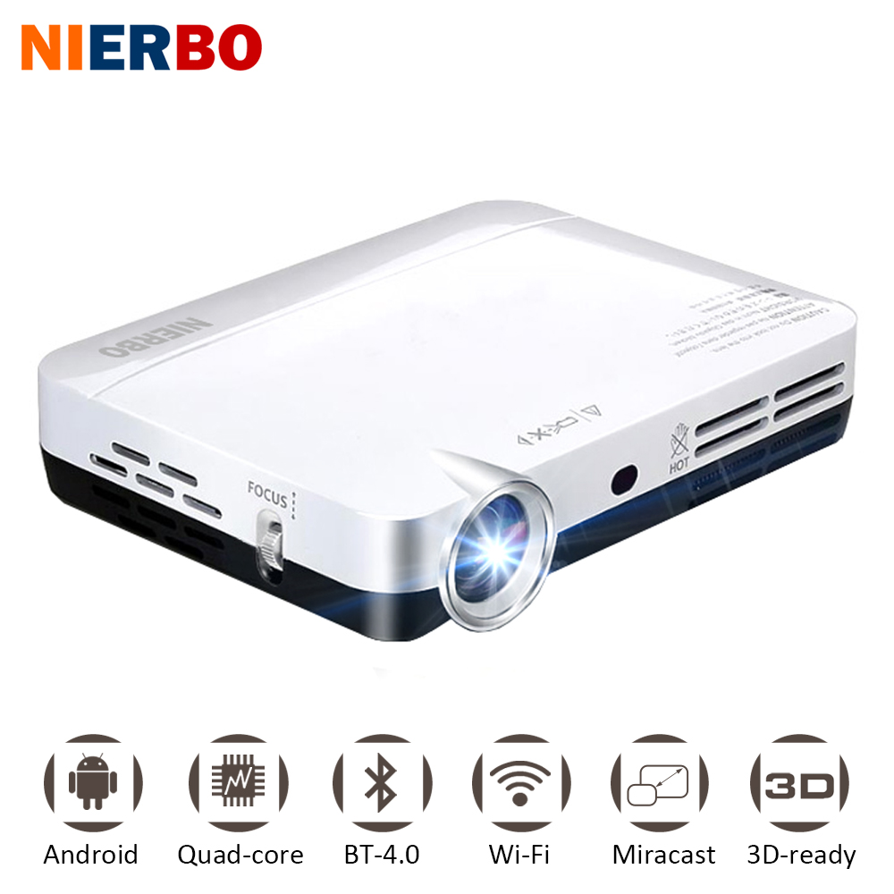 NIERBO Mini Projector LED Projector Full HD Android Smartphone Video Projecteur DLP Wifi Home Theater Pocket Held Game HDMI USB