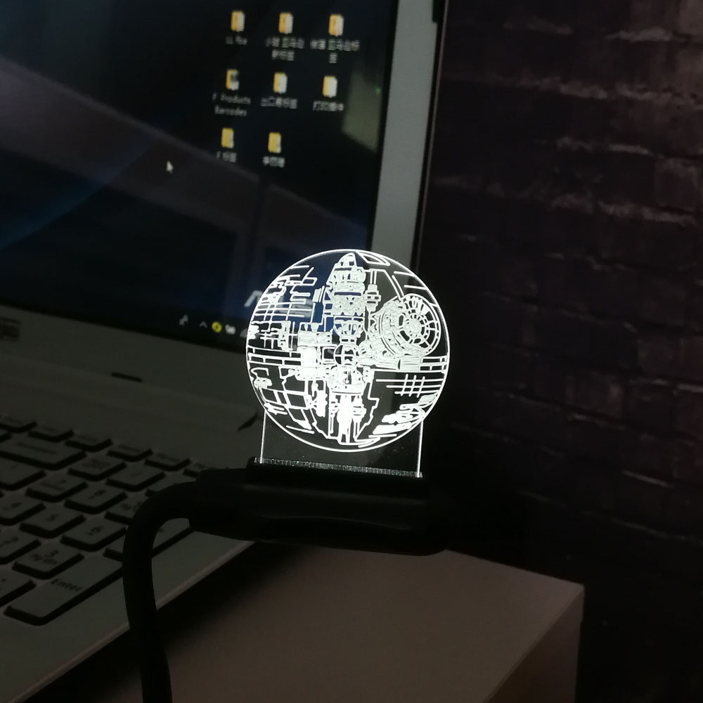 Hot Sale Film Star Wars 3D USB LED-lampa Astro Cartoon Death Star - Nattlampor - Foto 6