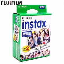Oryginalne Fujifilm Instax szeroki Film biały 20 arkuszy dla Fuji natychmiastowy papier fotograficzny aparat 300/200/210/100/500AF