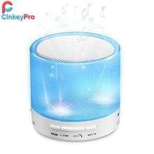 Bluetooth altavoz inalámbrico de luz led mini altavoces portátiles de radio fm subwoofer tweeter audio sonido para xiaomi iphone ordenador