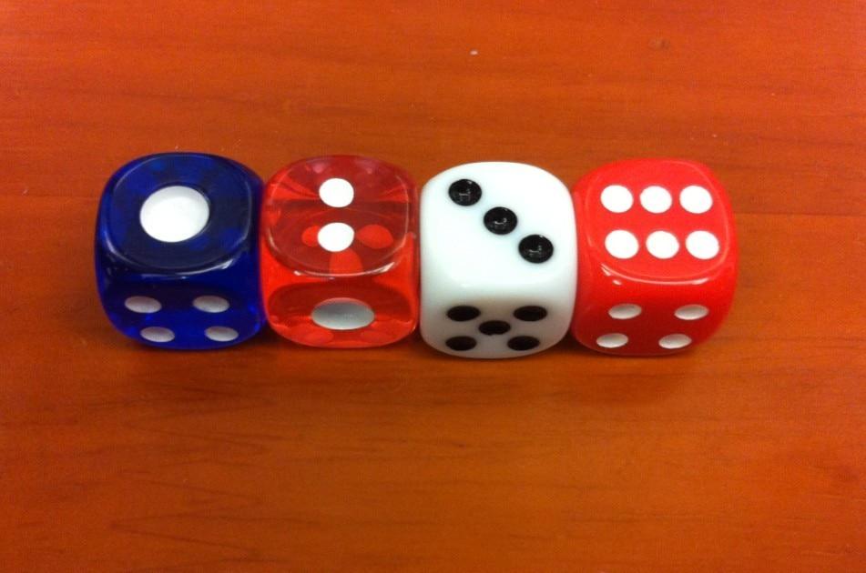 Dice 12MM στρογγυλεμένα ένα mahjong ζάρια μηχανή mahjong αυτόματη μηχανή mahjong / εκπαιδευτικά / ψυχαγωγία / παίζοντας / συλλογή