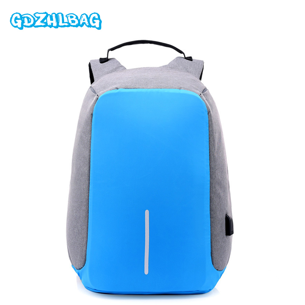 Anti theft Backpack Women USB Charging 15.6 inch Laptop Travel Bag Multi function Rucksack Schoolbag Waterproof Backpack B163 kingsons external charging usb function school backpack anti theft boy s girl s dayback women travel bag 15 6 inch 2017 new