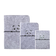 Harfa A5 A6 A7 Lână Felt Panda Planificator Loose Leaf Notebook Recipient Spiral Reîncărcabil Dairy Travel Jurnal Self-design Bandaj