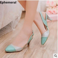 Ladies 1 7 Sexy Pointed Toe Back Strap Western Mixed Color Thin High Heel Sandals Shoes