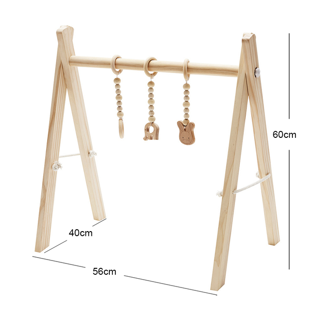 Nordic Baby Room Decor Play Gym Toy Wooden Nursery Sensory Toy Gift Infant Room Clothes Rack Accessories Photography Props 5