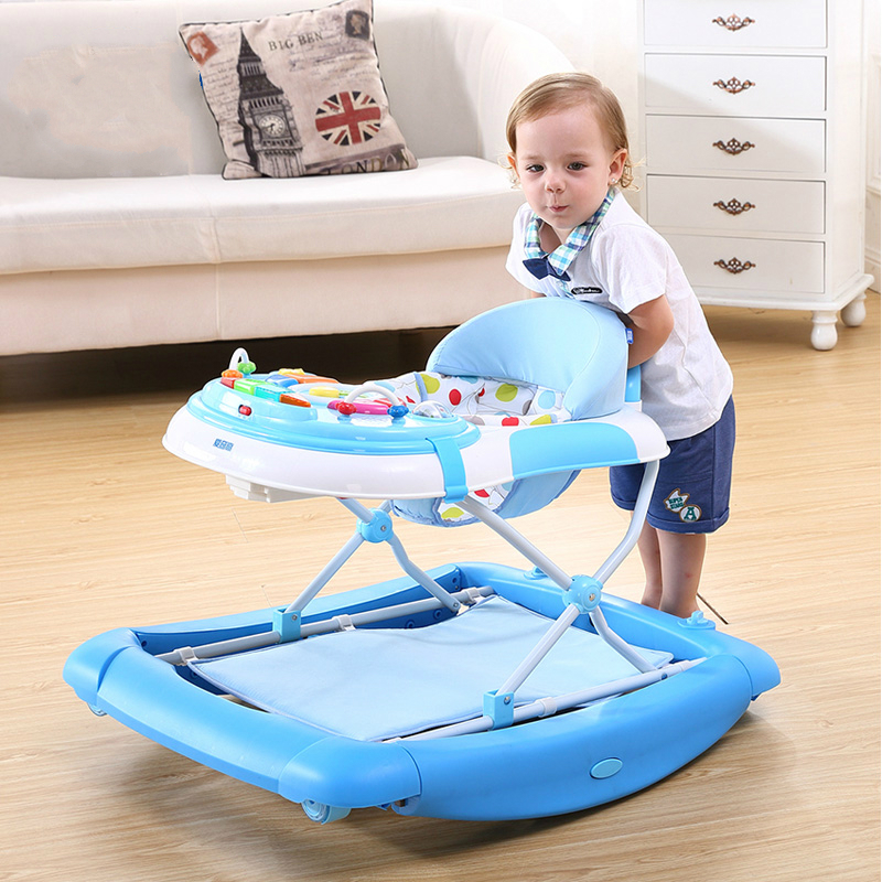 High Quality Baby Walker U Type Baby Walking Learning Car Anti-Roll Over Multifunctional Children Baby Walker Stroller 45cm baby stroller sit to stand learning walker multifunction outdoor toy ride on car stokke activity walker gift for baby