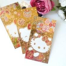 Лучший для Yound леди красный конверт китайская собака год мультфильм 10 упаковок 60 шт красный пакет HS1608