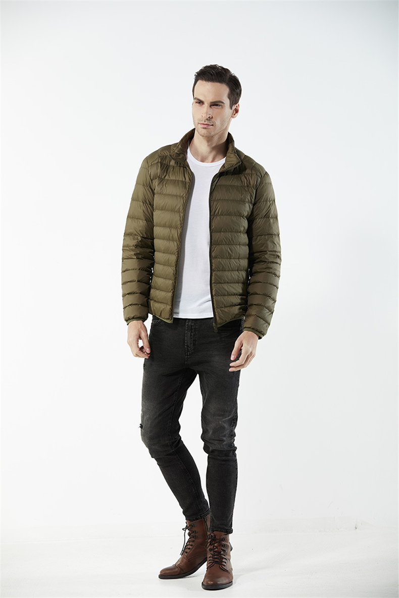 Customized White Duck Down Jacket Men Winter Ultralight Light Male Parka Coats Man Brand Clothing Water Resistant Outwear Autumn2