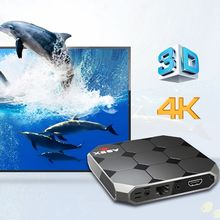A95X R2 TV Box Amlogic S905W 2.4GHz 4K WiFi Android 7.1 Home Media Player With the EU plug цены онлайн